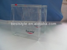 hot sale zipper closure clear pvc bag