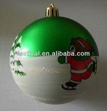 2013 Fashion Cheapest printing ball,plastic ball mini christmas ball