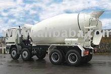 Truck mounted concrete mixer