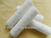 Pure white microfiber fabric paint roller brush & roller refill