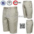 Pre- laundered pantalones cortos de algodón para hombre de poliéster walkshorts