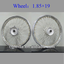 chrome motorcycle wheel 19 assembly