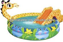 Backyard use pool slide,residential inflatable water slides