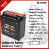 moped scooter Battery/motorcycle parts 12volts 5ah china