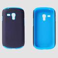 de silicona añadir caja de plástico del teléfono celular para samsung i8190
