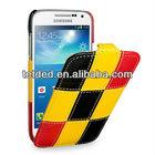 TETDED Premium Leather Case for Samsung Galaxy S4/IV mini/mini LTE GT-I9190 I9195 I9192 -- (Matrix: Yellow01)