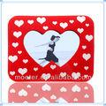Amar vermelhas duplas coração Photo Frame para casal lembrança