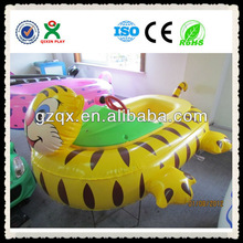 2013 NEW cartoon kids electric bumper boat/Inflatable kids play boat QX-11148G