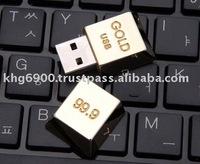 GOLD bar USB Flash Drive (promotional gift) 24K gold USB memory stick