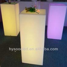 Liquid led table design,restaurant dining tables