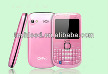 "TV/BT/FM/Torch FCC/CE Back Camera with Flash Light Cute QWERTY dual sim quadband Ipro i5 Mobile phone 2.0"" QCIF"