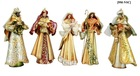 "9"" TIN MAJESTIC NATIVITY SET"