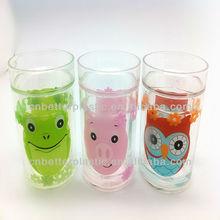Animal plastic tumbler double wall insert kids mug cute decorated tumbler