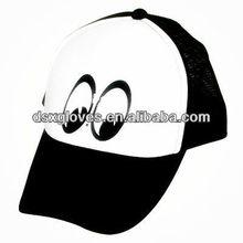 Big Eyes Printed Black Mesh Caps Logo Net Hats