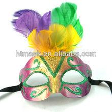 Children Half Face Feather Eye Masks