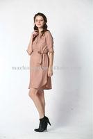 2013 Summer Fashion Soild Color Maternity Dress With Belt