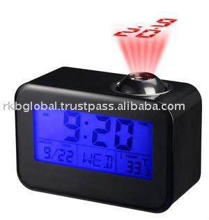 Alarme elegante relógio Projector