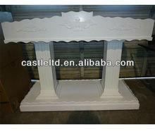 De madeira branca igreja grande tamanho púlpito / esculpido pedestal sala de aula pódio