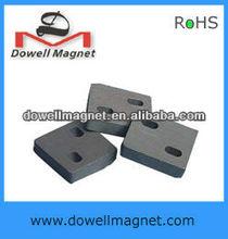 square ferrite magnet y30/ block magnet with holes