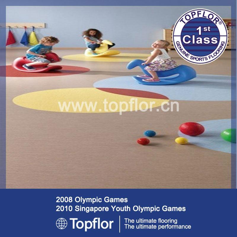Indoor Kids Playground Rubber Surface PVC Vinyl Flooring