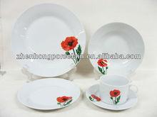 Round Porcelain dinnerware set manufacturers China