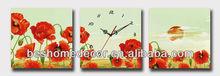 Cuadros pintados de flores de los relojes de pared
