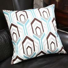Europe style nutural silicone filled leather safa printed cushion