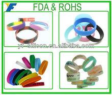 Latest Unique Design Silicone Wristband Printing Top Brand