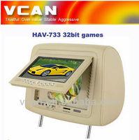 7'' car in dash dvd player DVD Divx MP4 USB SD player joystick In-car Media Player Game