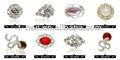 La belleza de la aleación de dibujos animados decoraciones de uñas, dimond
