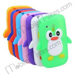 Cute Case fpr Samsung Galaxy S3 Mini, 3D Penguin Shaped Soft Silicone Case for Galaxy S3 Mini i8190