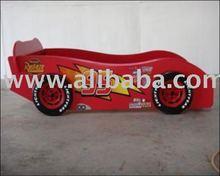 WOODEN KID BED - RACING CAR