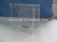 hot sale net weight customized clear vinyl pvc zipper bag with handles for herbal incense