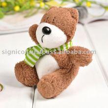 Pelúcia interessante branco e marrom urso animal celular cabos de telefone