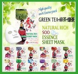 GREEN TEA /Facial Sheet Mask/natural skin care/Wheitning/Moisturizing