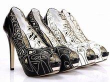 2011 new arrival peep toe platform women's high heels