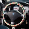 Candy orange Dot pattern Steering Wheel Cover made by Korea's runwaycar (It's time to dress car up)