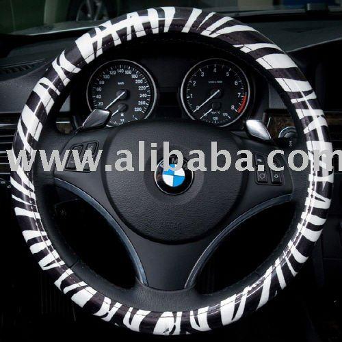 Zebra black pattern Steering Wheel Cover made by Korea's RunwayCar (It's time to dress car up)