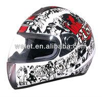 High Quality full face Helmet abs plastic helmet lemon/silver 4#