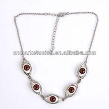 2013 Top fashion charm turkey silver evil eye necklace