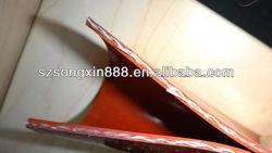 Silicone coated fiberglass