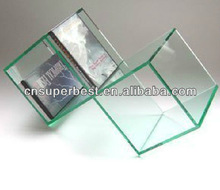double square acrylic CD/DVD storage display box
