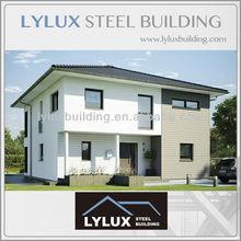 Steel frame prefabricated houses,luxury prefab designed houses