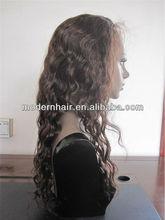 "top quality factory cheap price 22"" #4 wavy european hair jewish wig kosher wigs"