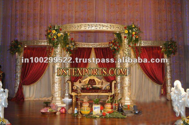 See larger image INDIAN WEDDING CARVED MANDAP