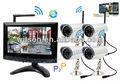 Witson casa de seguridad inalámbrica sistema de cámara con monitor, la red p2p, ddns libre, w3-kwd7904n