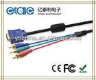 high quality black vga to rca splitter cable