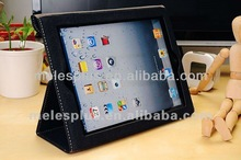High quality magnetic smart cover PU leather case for ipad2 ipad3 with perfect retail package