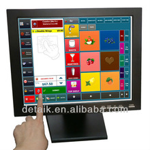 "brand new no impurity 15"" TFT-LCD 4:3 touch screen pos monitor 1024*768 resolution"