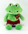 Nuevo peluche rana verde de peluche juguetes/verde de la felpa juguetes rana con ojos grandes/rana de peluche de juguete